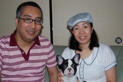 フレンチブルドッグの子犬をご購入の静岡県浜松市の上村様